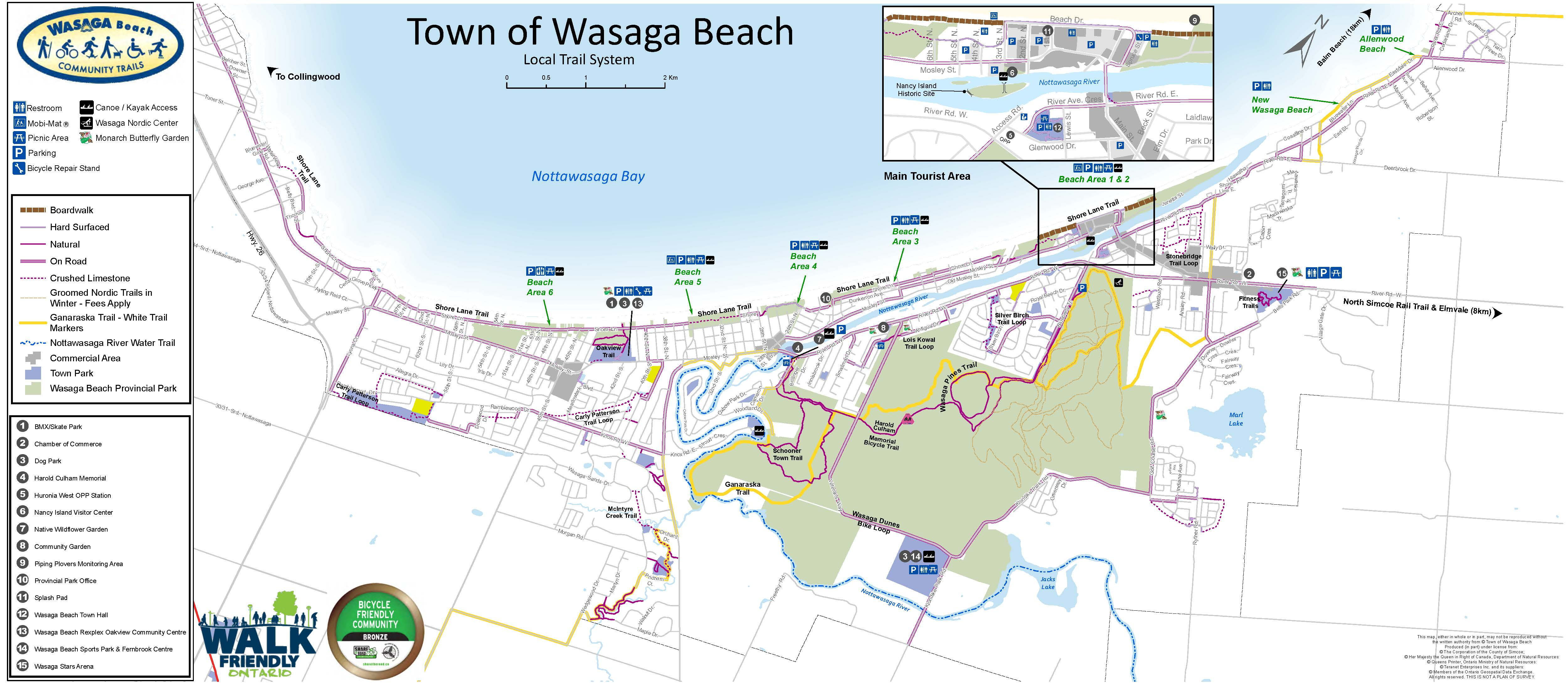 Town of Wasaga Beach Trails map